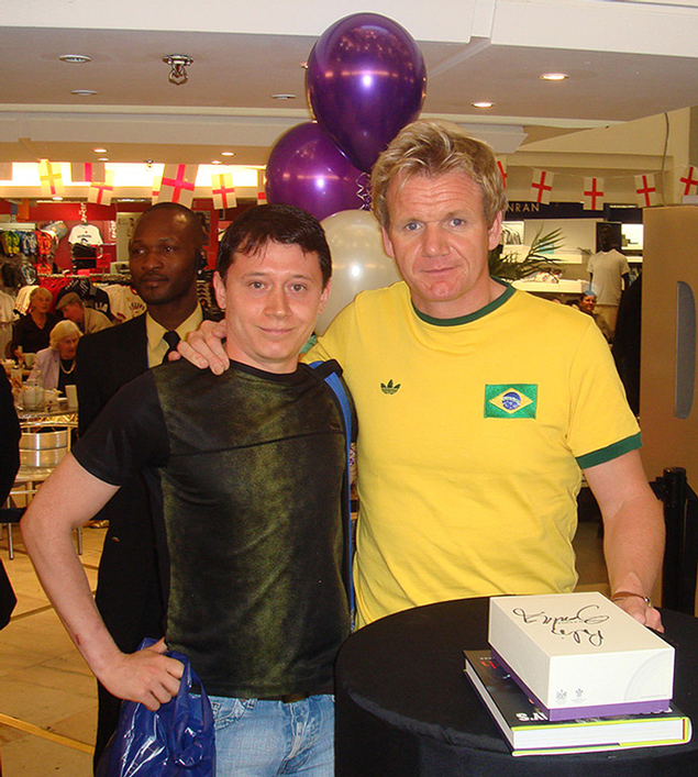 with chef Gordon Ramsey